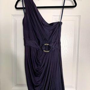 BCBG MAXAZRIA One Shoulder Tulip Skirt Dress